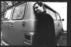 Alec & his van. photo by: Cynthia Connelly